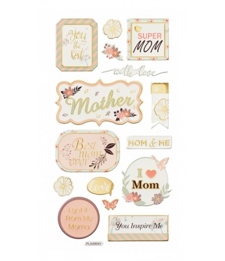 STICKERS EN RELIEF BEST MOM