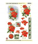 FEUILLE 3D POINSETTIA D526