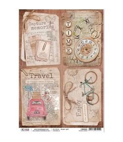 PAPIER DE RIZ TRAVEL CARDS 22 X 32 CM