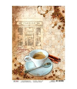 PAPIER DE RIZ CAFFE FLORIAN 22 X 32 CM