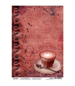 PAPIER DE RIZ BUONGIORNO CAFFE ! 22 X 32 CM