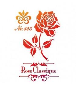 POCHOIR A4 ROSE