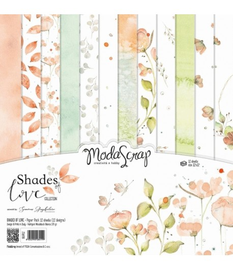 BLOC 12 FEUILLES SHADE OF LIFE MS 30.5X30.5CM