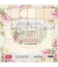 BLOC 36 FEUILLES 15 X 15 CM -  MY WEDDING