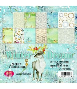 BLOC 36 FEUILLES 15 X 15 CM -  WINTER DREAM