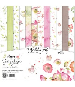 BLOC 12 FEUILLES LET YOUR SOUL BLOOM MS 30.5X30.5CM