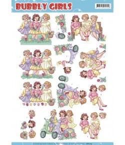 FEUILLE 3D BUBBLY GIRLS - CD11214