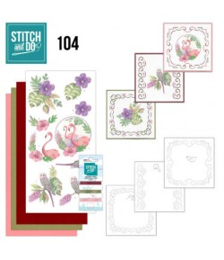 KIT 3D A BRODER TROPICAL - 104 - STITCH AND DO