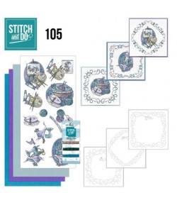 KIT 3D A BRODER COUTURE - 105 - STITCH AND DO