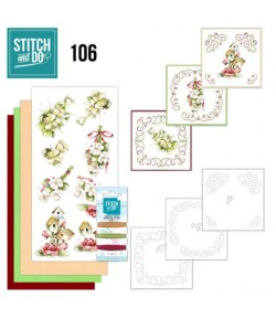 KIT 3D A BRODER SPRING FLOWER - 106 - STITCH AND DO