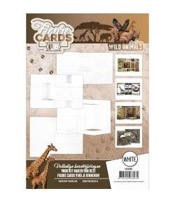 LIVRET GABARITS CARTES + FEUILLES 3D WILD ANIMALS - N°8