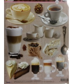 FEUILLE PREDECOUPEE CAFE ET GOURMANDISES SL244