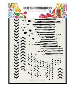 POCHOIR A5 GRUNGE - DUTCH DOOBADOO