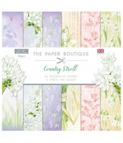 BLOC 36 FEUILLES 30.5 X 30.5 CM - COUNTRY STROLL