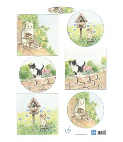 FEUILLE CHATS - IT608 - MARIANNE DESIGN