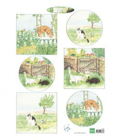 FEUILLE CHATS - IT609 - MARIANNE DESIGN