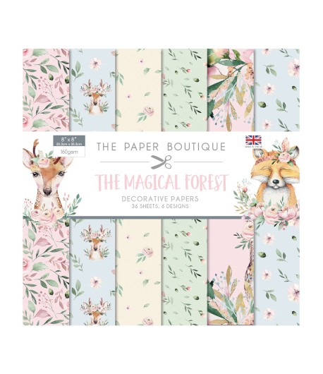 BLOC 36 FEUILLES 20 X 20  CM - THE MAGICAL FOREST