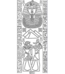 STICKERS EGYPTE ARGENT