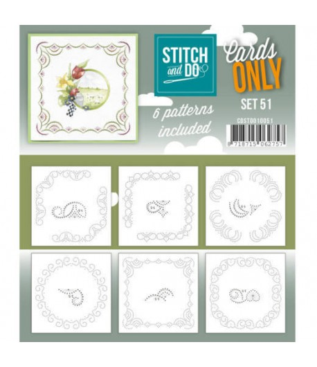 6 CARTES A BRODER STITCH AND DO - SET 51