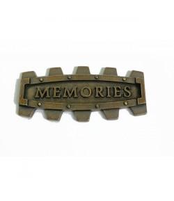 PLAQUE MEMORIES EN MÉTAL - 5 X 2.5 CM - MITFORM 906