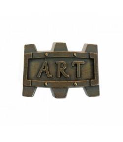 """PLAQUE """"ART"""" EN MÉTAL - 4.5 X 2.5 CM - MITFORM 904"""