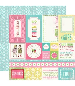 PAPIER FOREVER FRIENDS CARDS 30.5 X 30.5 CM - CARTA BELLA TRUE FRIENDS