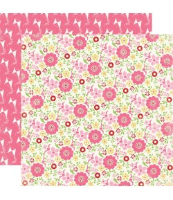 PAPIER FLORAL 30.5 X 30.5 CM - CARTA BELLA TRUE FRIENDS