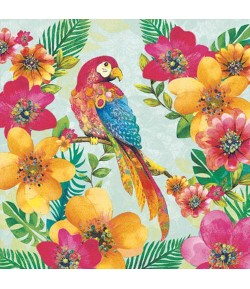 SERVIETTE PERROQUET TROPICAL