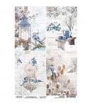 PAPIER DE RIZ TIME FOR HOME CARDS 21 X 29.7CM CBRP055