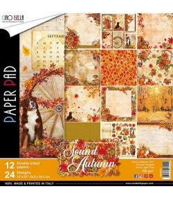 BLOC 12 FEUILLES THE SOUND OF AUTUMN CB 30X30CM CBPM023