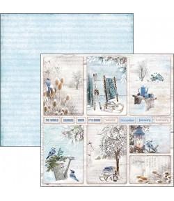 PAPIER WINTER CARDS CIAO BELLA 30.5X30.5CM CBSS083