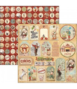 PAPIER THE CIRCUS TAGS CIAO BELLA 30.5X30.5CM CBSS089