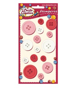 BOUTONS ROSES/BLANCS X 15 - BLP004