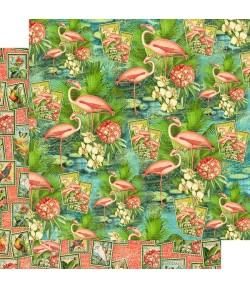 PAPIER FLAMINGO LAGOON -  LOST IN PARADISE - GRAPHIC 45