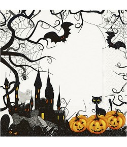 SERVIETTE HALLOWEEN CHAT