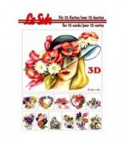 LIVRET 3D A5 FEMMES FLEURS 345655
