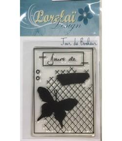 TAMPON JOURS DE BONHEUR LORELAI 4.5X5.5CM
