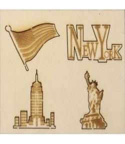 SUJETS BOIS NEW YORK X 4
