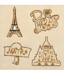 SUJETS BOIS PARIS X4