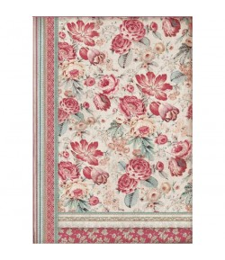 PAPIER DE RIZ RED FLOWER A3 29.7 X 41.9 DFSA3040