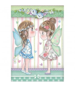 PAPIER DE RIZ A4 FAIRY AND BUTTERFLIES 21 X 29.7 DFSA4413