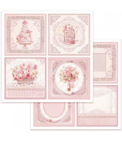 PAPIER WEDDING CARDS 30 X 30 CM - SBB626 STAMPERIA