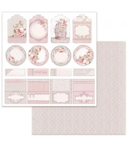PAPIER WEDDING TAG 30 X 30 CM - SBB628 STAMPERIA