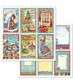 PAPIER CHRISTMAS CARDS 30 X 30 CM - SBB636 STAMPERIA