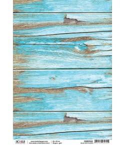 PAPIER DE RIZ BLUE DRIFTWOOD 21 X 29.7CM CBRP022 CIAO BELLA