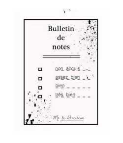 TAMPON CLEAR BULLETIN DE NOTES