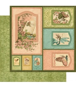 PAPIER GRAPHIC 45 ONCE UPON A SPRINGTIME FRAMES