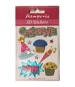 STICKERS 3D CELEBRATE SBA291 STAMPERIA