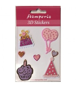 STICKERS 3D SAC CAKE SBA292 STAMPERIA