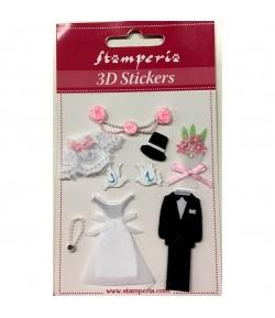 STICKERS 3D MARIAGE SBA305 STAMPERIA